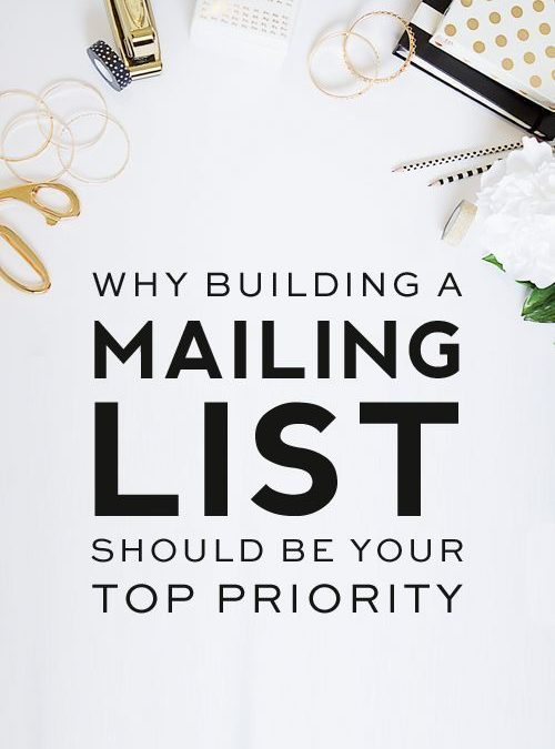 Why Building a Strong Email List Should Be Your Number 1